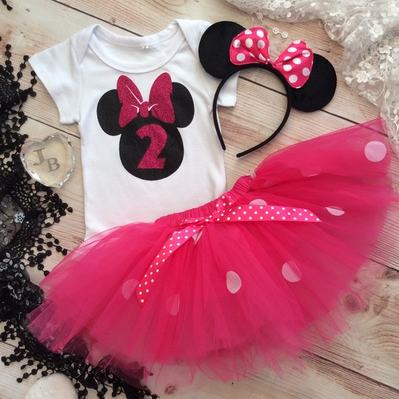 9d78ca342588f Dresses | Boutique Girls Minnie Mouse 2nd Birthday Tutu Set | Poshmark